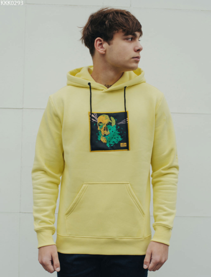 Толстовка Staff yellow skull fleece