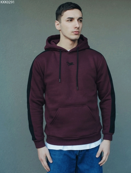 Толстовка Staff bordo line logo fleece