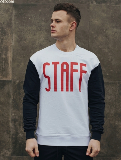 Свитшот Staff white & dark blue
