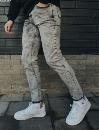 Джинси Staff Grion light gray slim