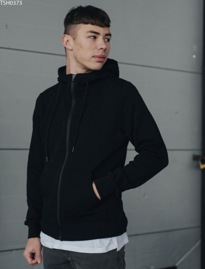 Толстовка Staff zip black basic