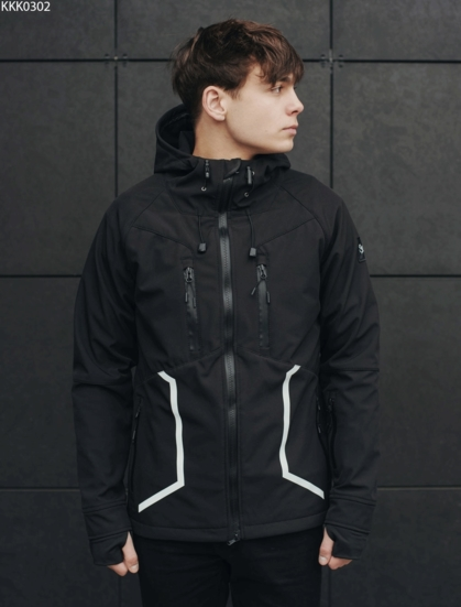 Куртка Staff soft shell black line