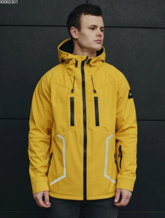 Куртка Staff soft shell yellow line