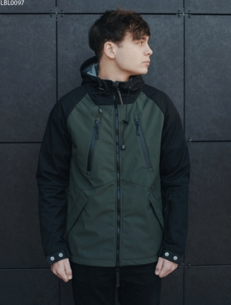 Куртка Staff soft shell haki & black ros