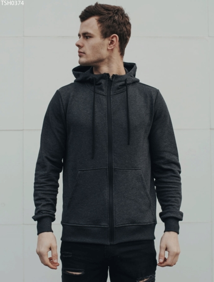Толстовка Staff zip grafit basic