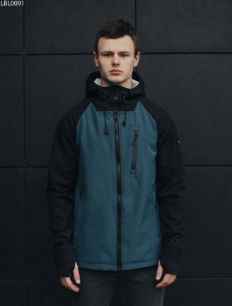 Куртка Staff soft shell Solar black & navy