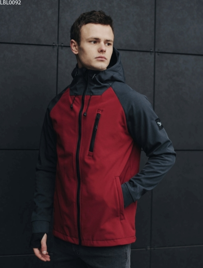 Куртка Staff soft shell Solar grafit & bordo