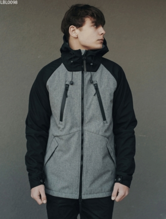 Куртка Staff soft shell black & gray ros