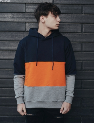 Толстовка Colorblock navy & orange