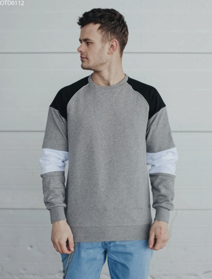 Свитшот Staff colorblock gray