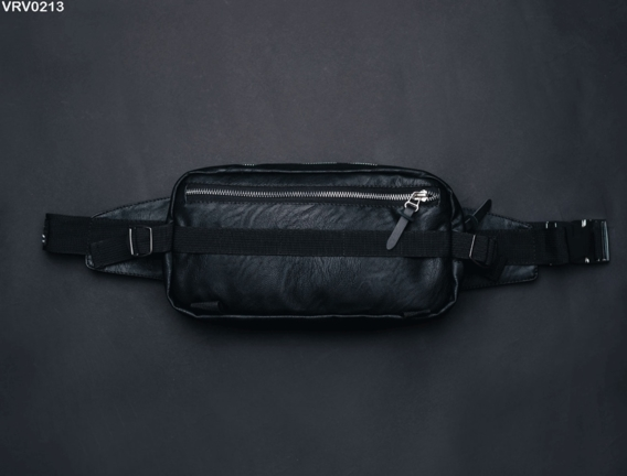 Поясна сумка Staff Square leather black