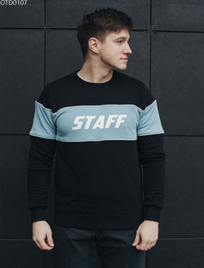 Свитшот Staff logo blue & black