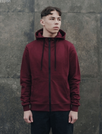 Толстовка Staff zip bordo basic
