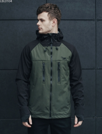 Куртка Staff soft shell haki & black