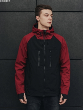 Куртка Staff soft shell black & red