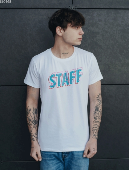 Футболка Staff blue logo