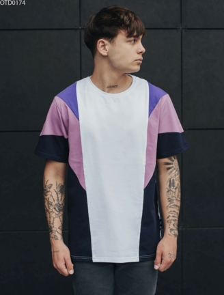 Футболка Staff colorblock purple