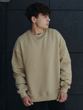 Свитшот Staff beige basic overs